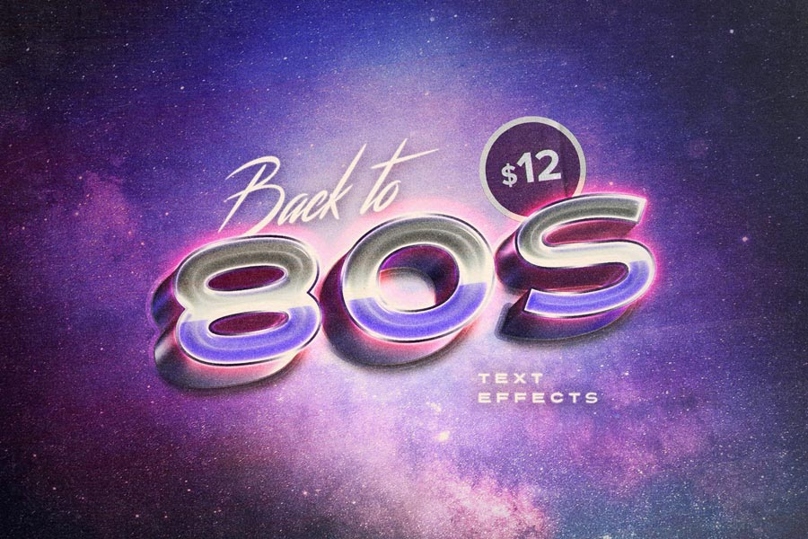Back to the 80s Retro Text Effects by Pixelbuddha
