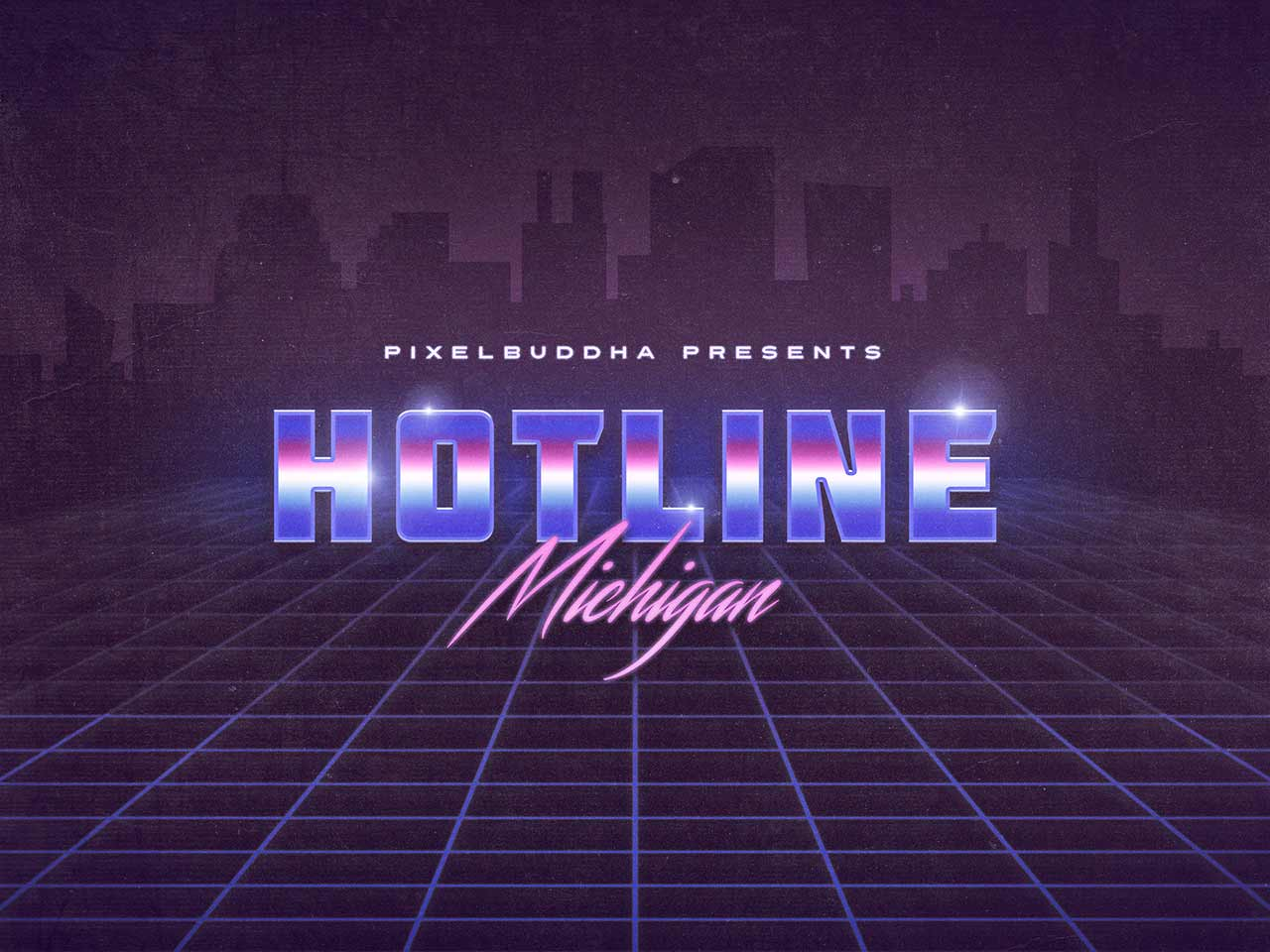 Hotline Michigan Text Effects