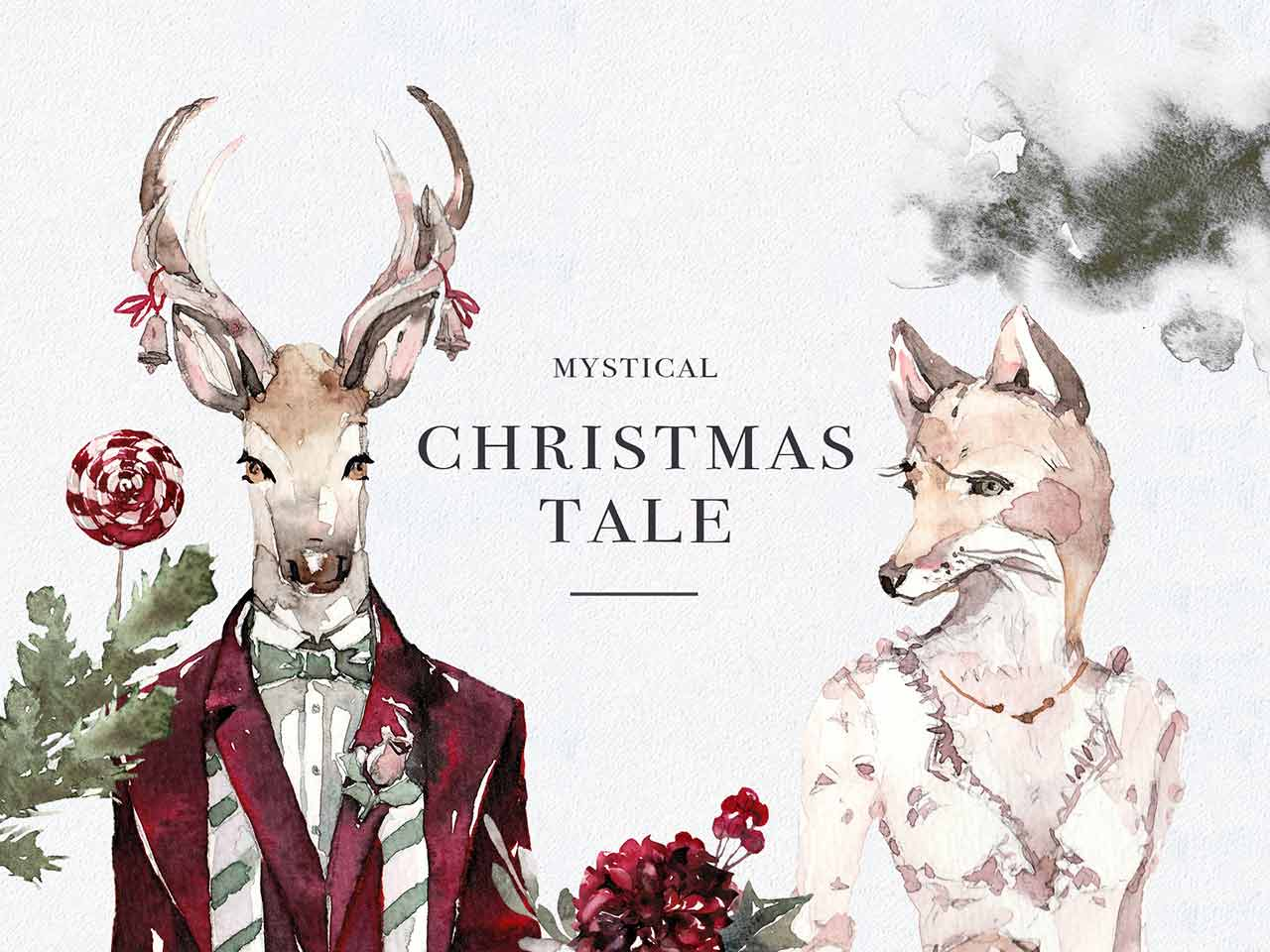 Mystical Winter Watercolor Set