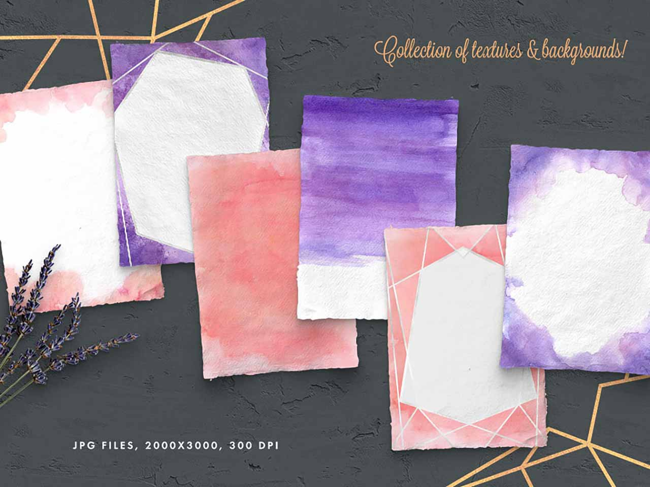 Peach And Purple Artistic Toolkit