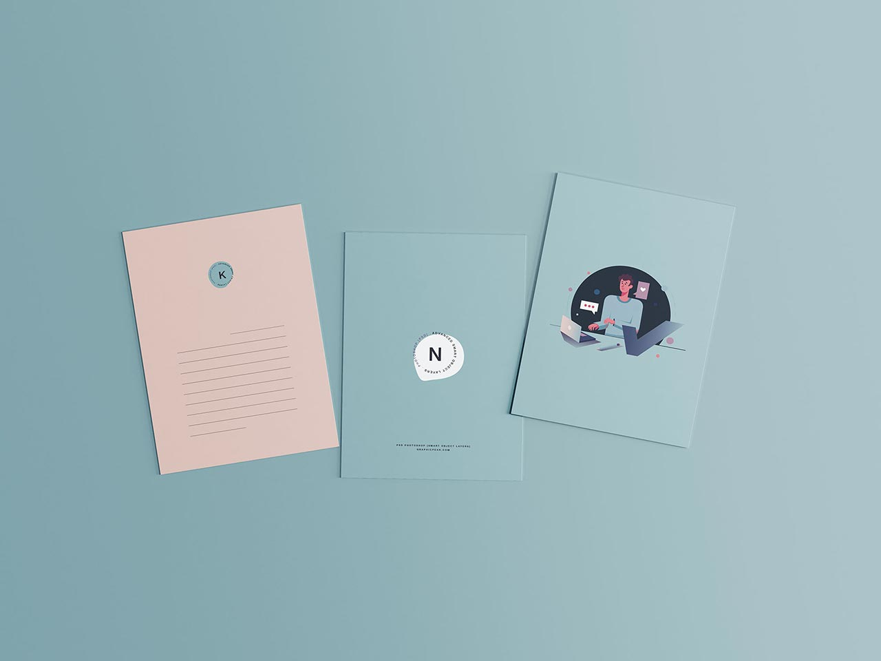 3 Postcard Mockups
