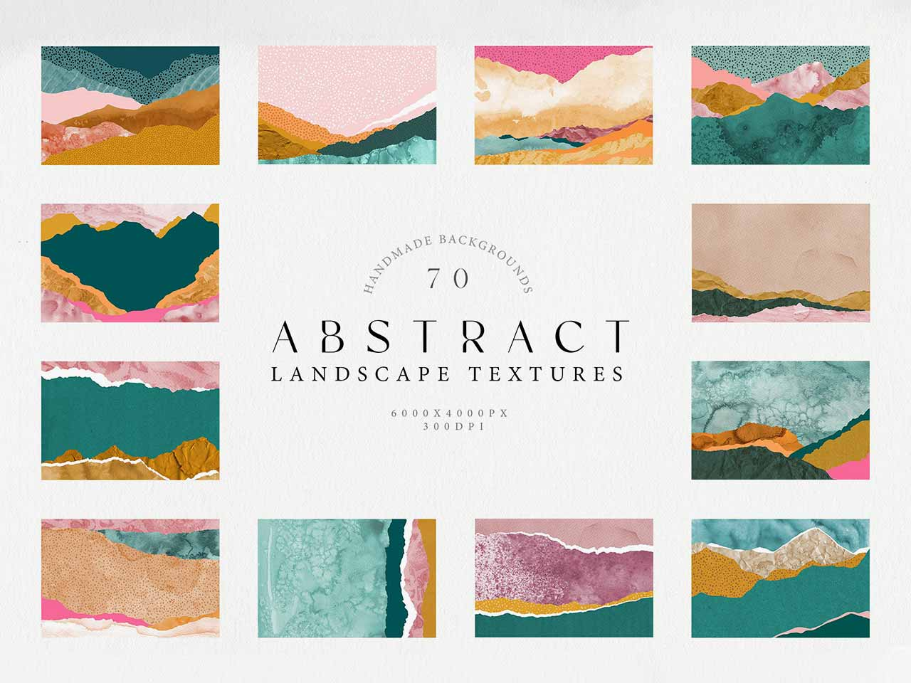 Abstract Landscape Watercolor Papers