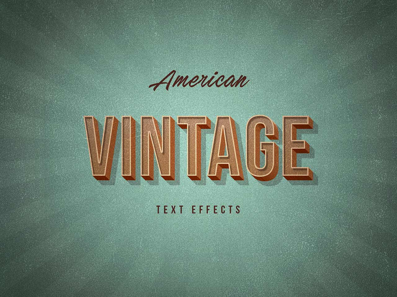 American Vintage Text Effects