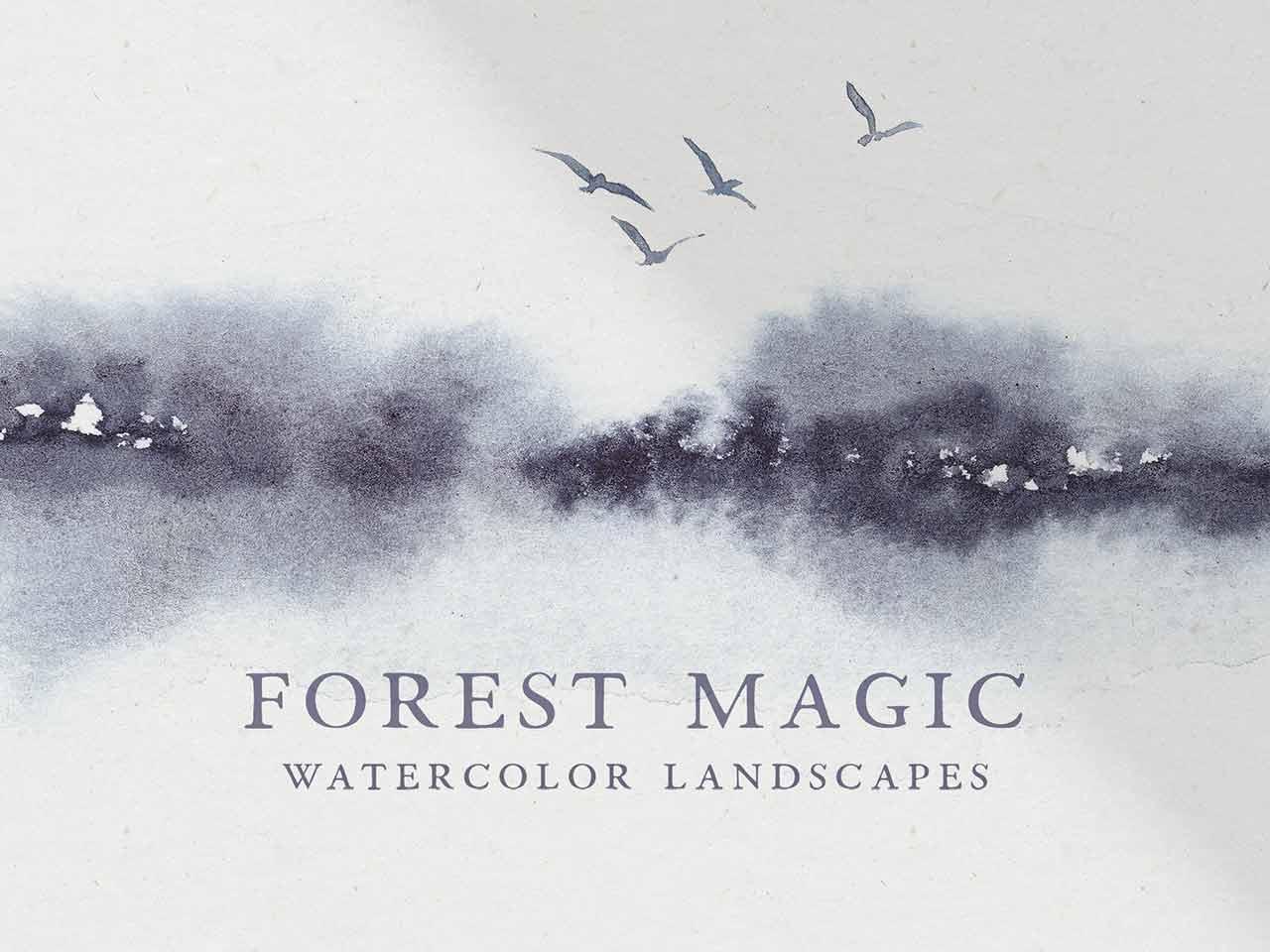 Forest Watercolor Landscapes