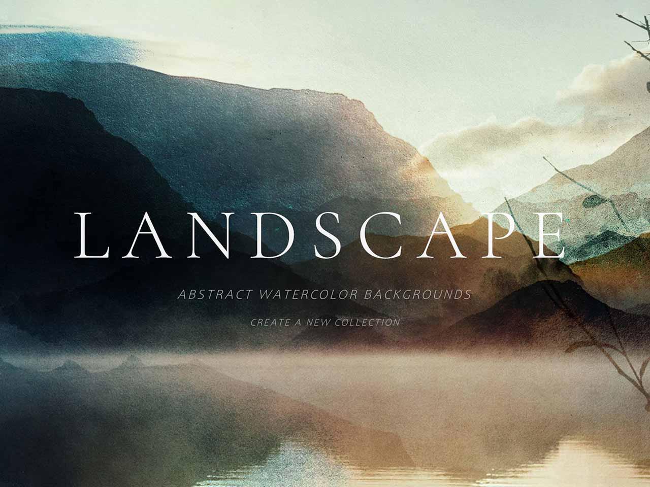 Watercolor Landscape Backgrounds
