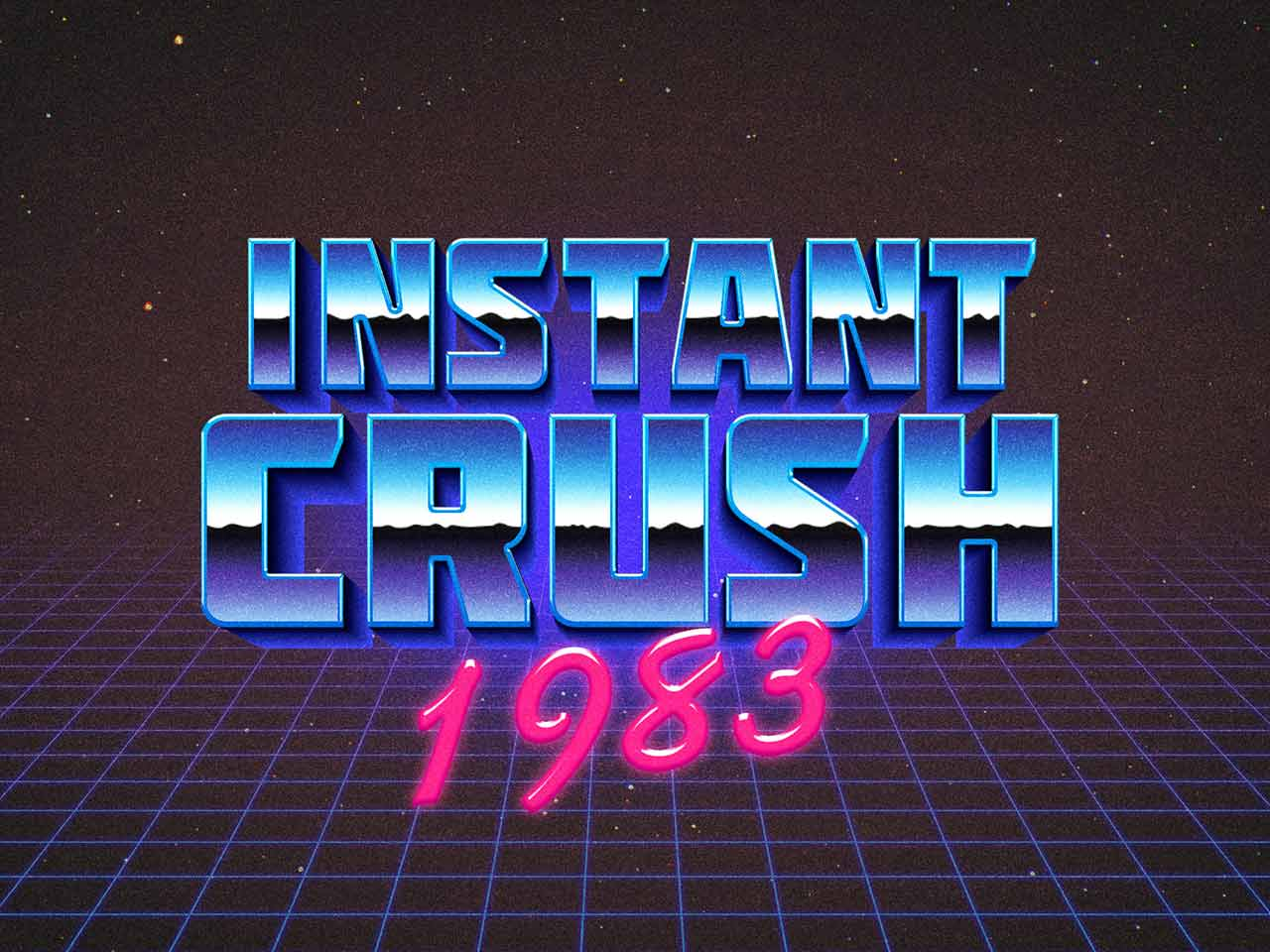 80s Retro Typography Effect