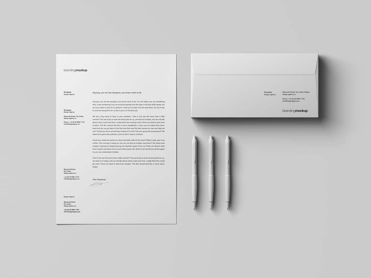 Letterhead / Envelope Branding Mockup