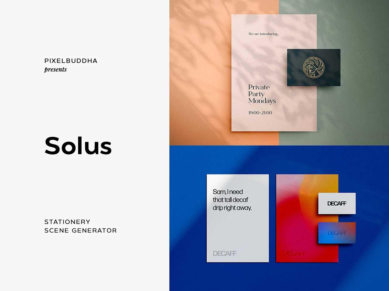 Solus Shadow Stationery Mockups