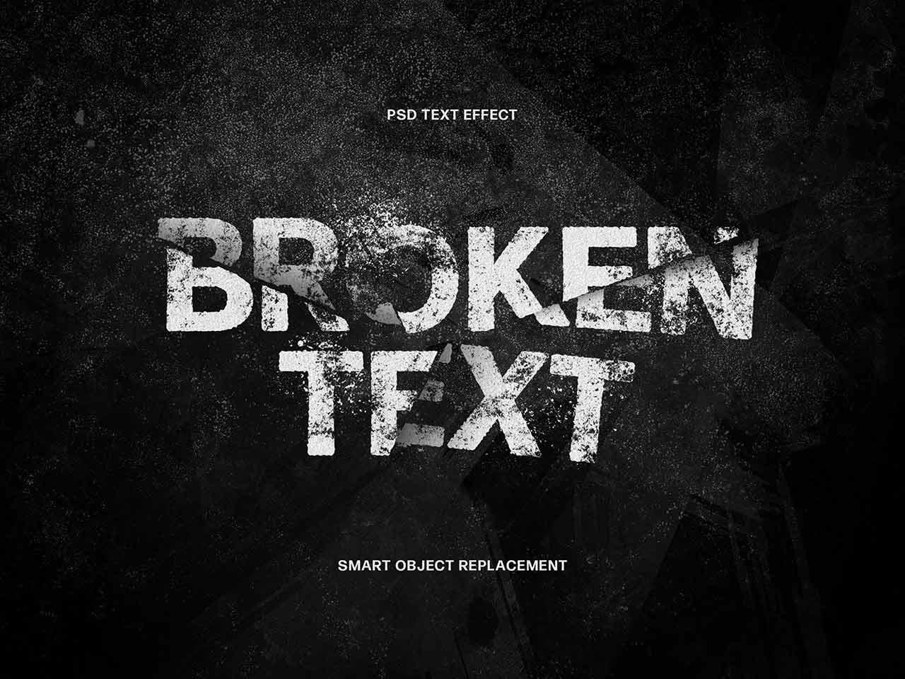 Broken Text Photoshop Effect