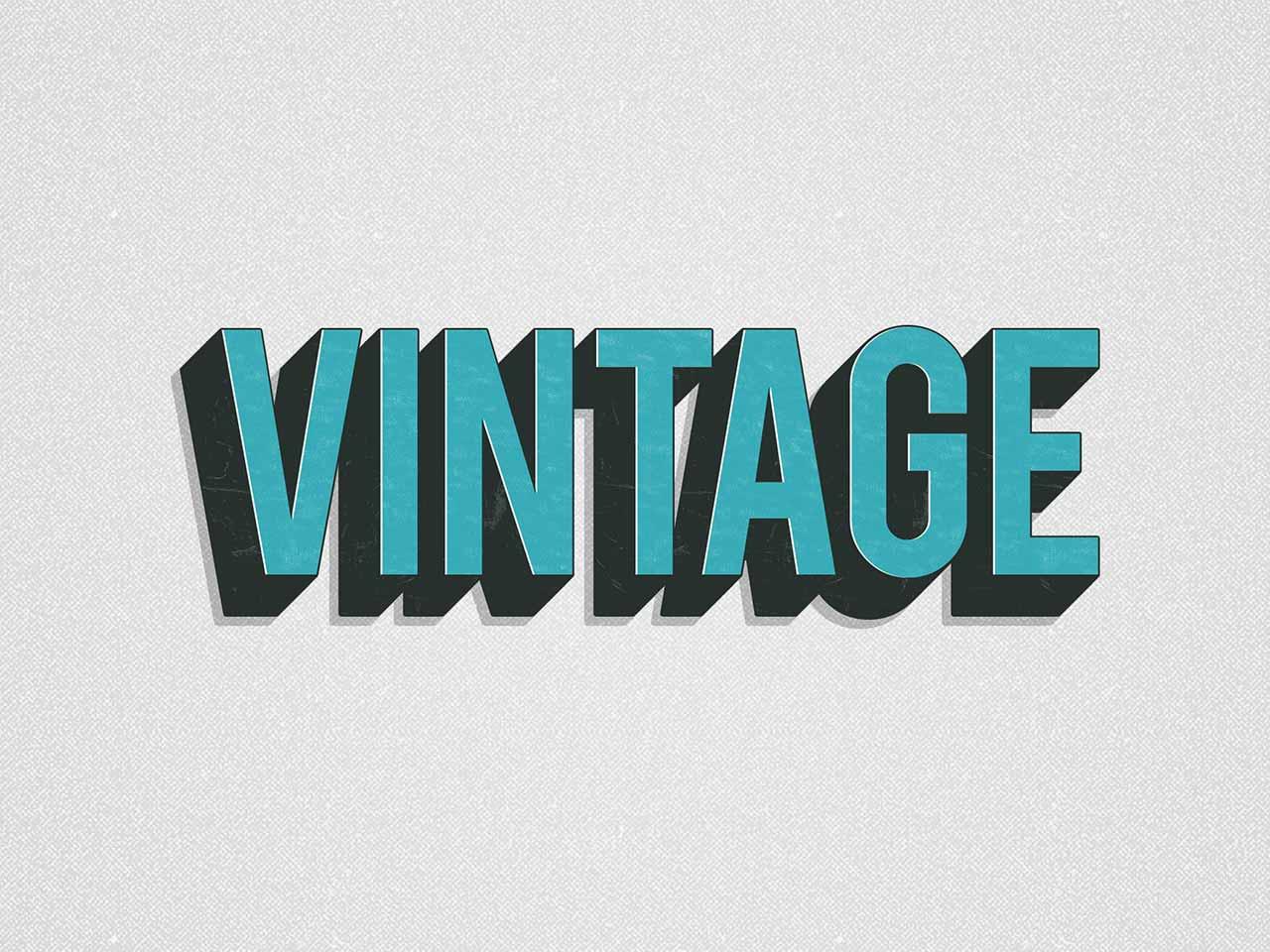 Vintage Photoshop Layer Styles