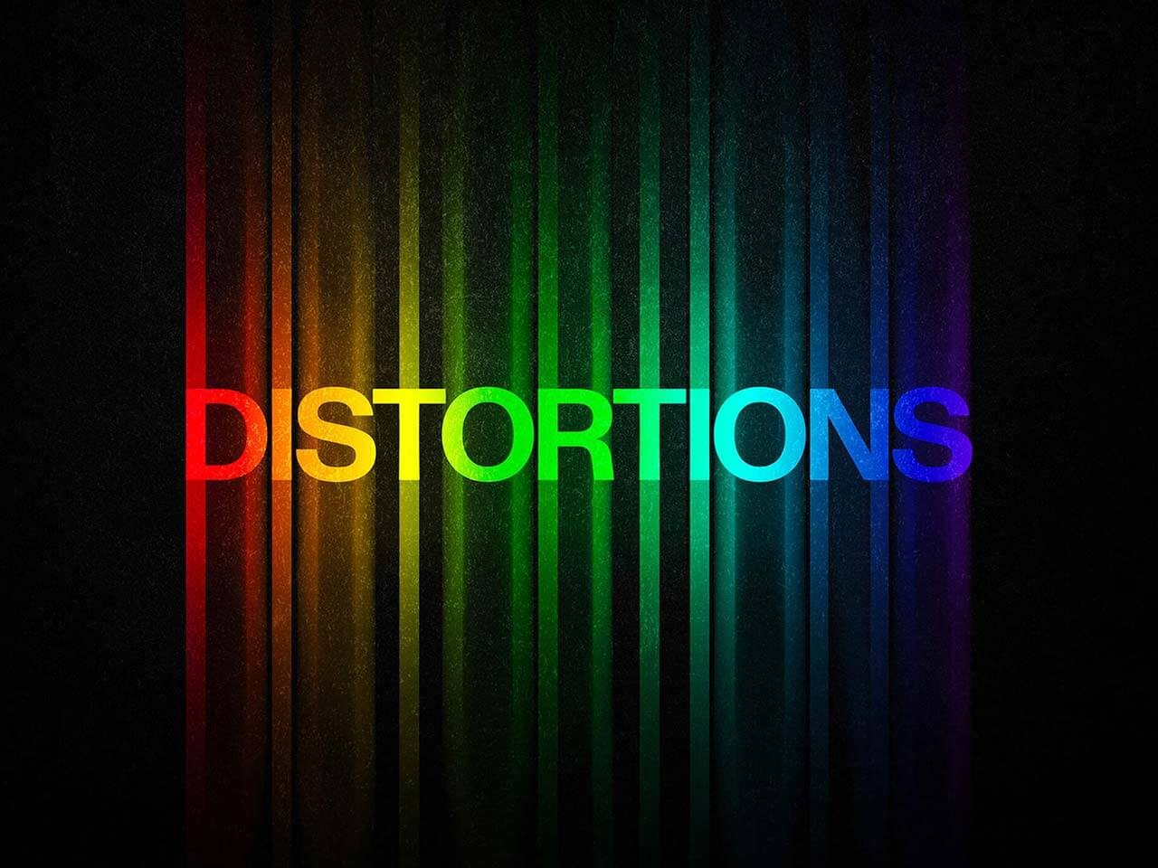 Color Distortion Text Effect