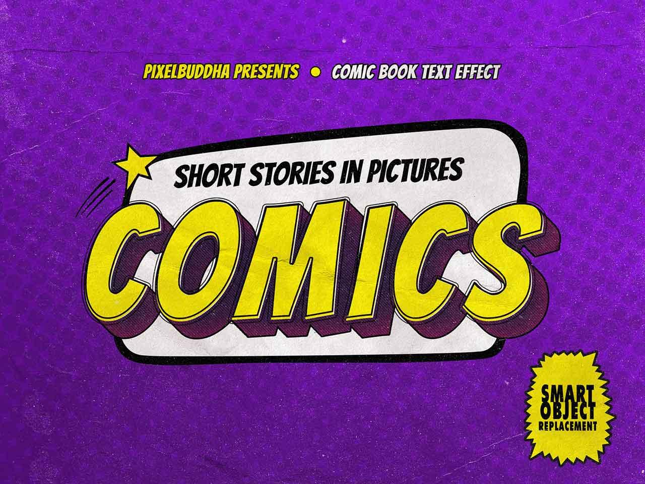 Old Comics Text Effects Set