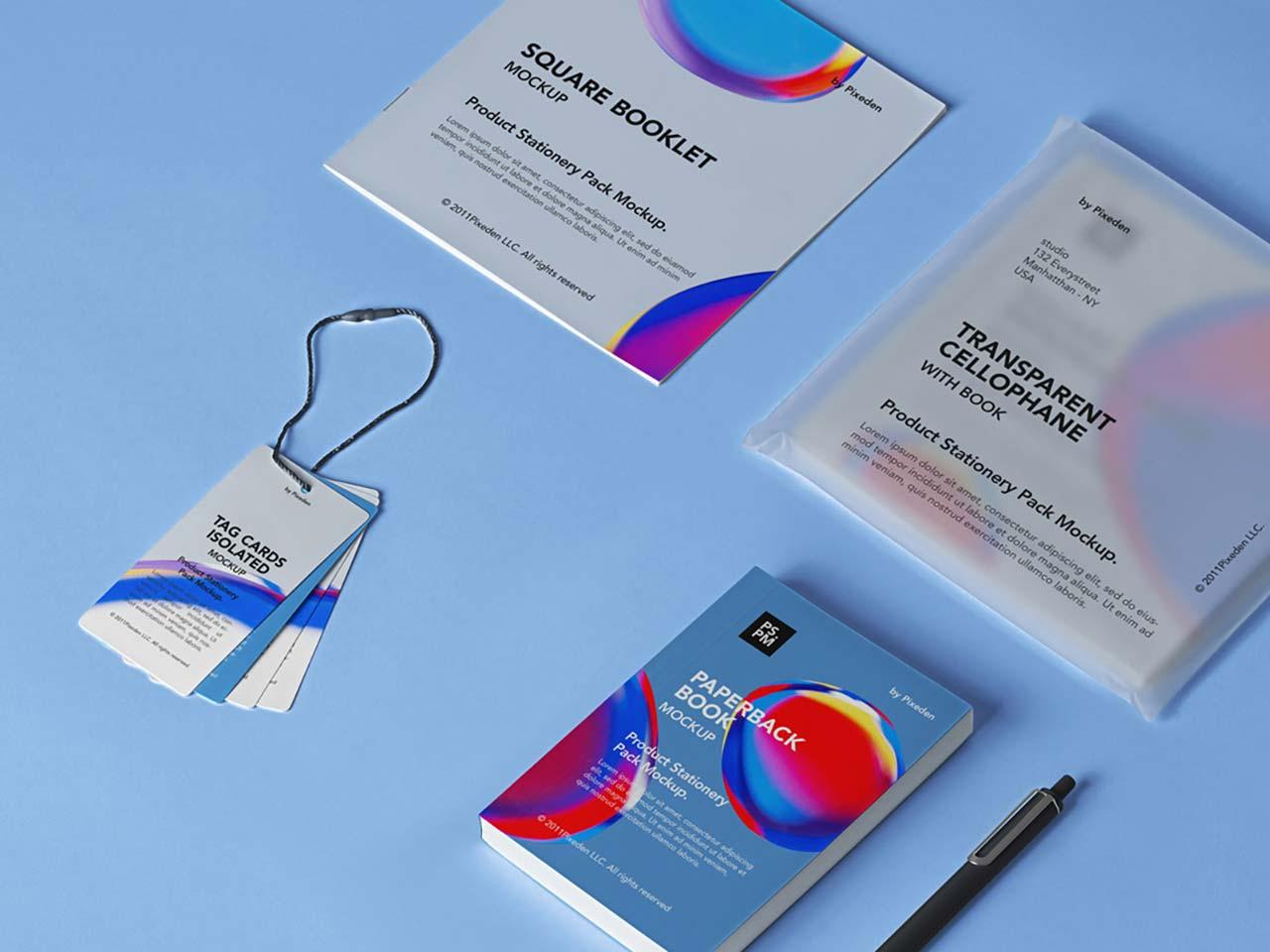 Product PSD Stationery Mockup Set