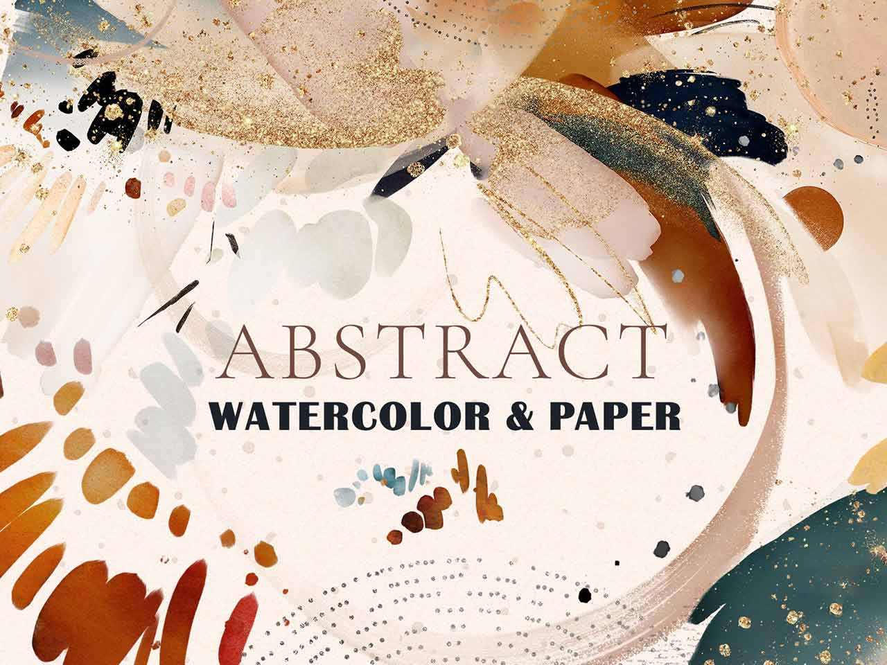 Abstract Watercolor & Paper Textures