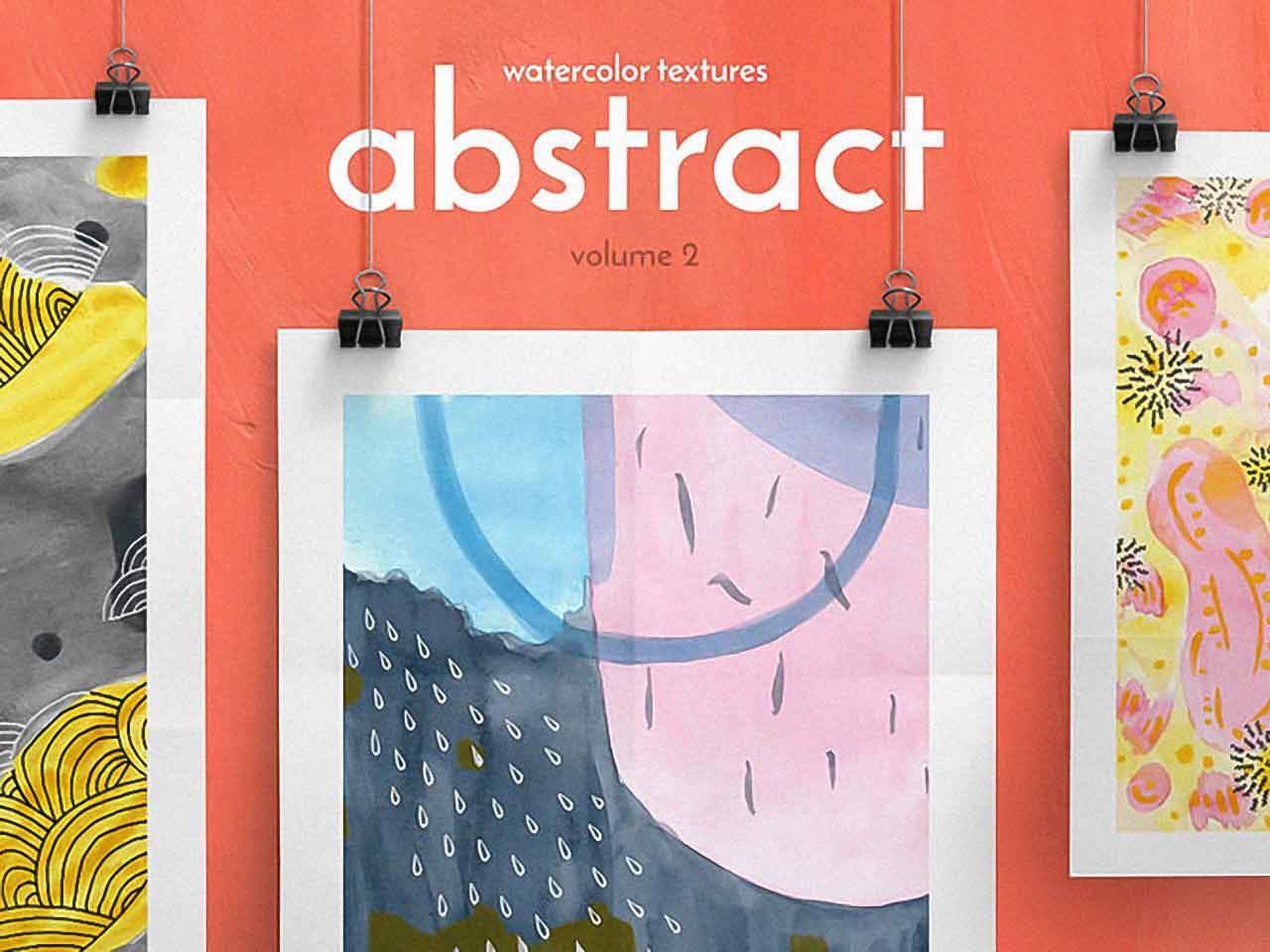 Abstract Watercolor Textures vol. 2